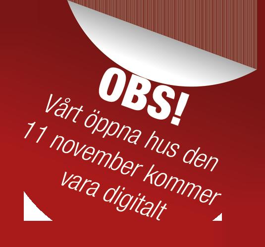 Klisterlapp OBS digitalt öppet hus