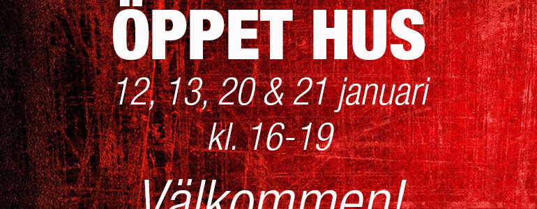 Bild Öppet Hus 12, 13, 20 & 21 januari kl 16-19